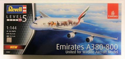 Thumbnail 03882 EMIRATES A380-800  - UNITED FOR WILDLIFE AIRCRAFT MODEL