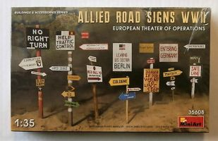 Thumbnail 35608 ALLIED ROAD SIGNS WWII EUROPEAN THEATER OF OPERATIONS