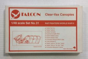Thumbnail CLEAR-VAX CANOPIES SET NO. 31 RAF FIGHTERS WORLD WAR II