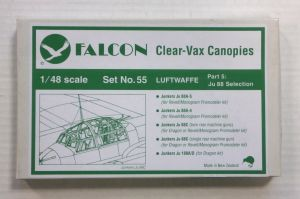 Thumbnail CLEAR-VAX CANOPIES SET NO. 55 LUFTWAFFE PART 5 Ju 88 SELECTION